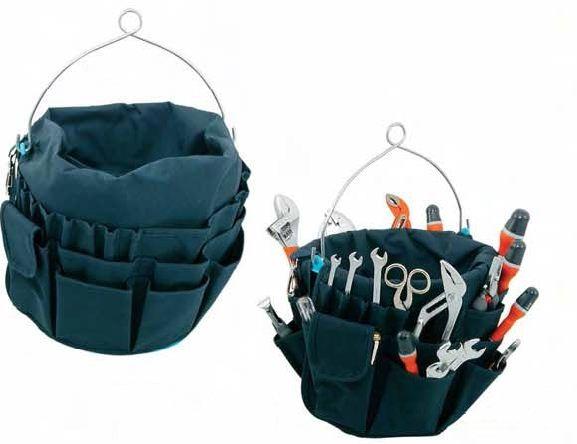 Trousse à outils polyester bleue marine 40 poches EU002128 A1218