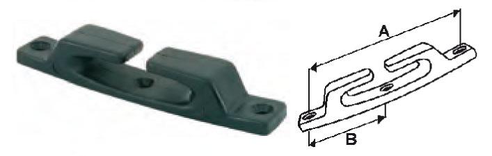 Chaumard droit nylon noir 120mm (lot de 6) 004526 A0619