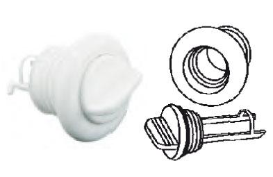 Nable bouchon imperdable nylon blanc diam tube 26.3 - EU004561