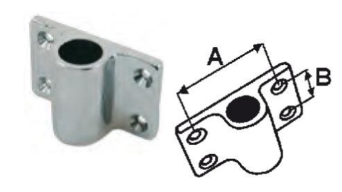 2 XSupport dame de nage laiton chromé à plaquer - EU004580 A0319