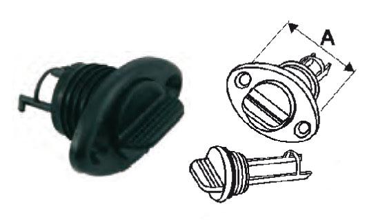 Nable bouchon imperdable nylon noir diam tube 26.3 - EU004589
