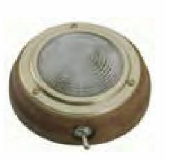 plafonnier teck rond Diam 110mm EU001438 A1118