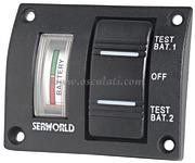 TABLEAU Panneau test 2 batteries étanche 14.100.04 A0219