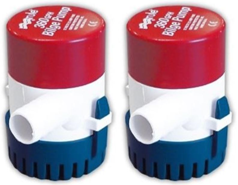 Pompe de cale RULE 360GPH 12volts (lot de 2) A1019