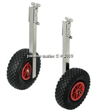 roues relevables inox bateaux pneus dia 260cm REF 3023 A0119