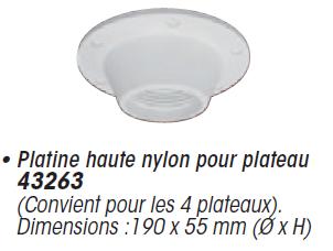 table ronde polyethylene amovible pied telescopique reglable neuf ebay. Black Bedroom Furniture Sets. Home Design Ideas
