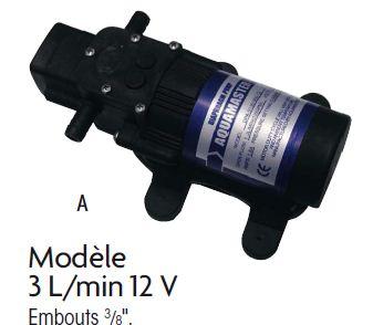 PLASTIMO Groupe d'eau pompe 12V  debit 3.0 L MINUTE 53431