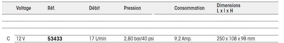 PLASTIMO Groupe d'eau pompe 12V  debit 17 L MINUTE 53433