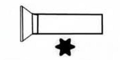 VIS METAUX M.TF TORX 4X30  (SACHET 3 VIS) EUR 700249