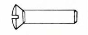 VIS METAUX M.T.F.B.F 04X16  (SACHET 7 VIS) EUR 700257