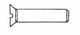 VIS METAUX M.T.F FENDUE + ECROU 03X0  (SACHET 10 VIS) EUR 700284