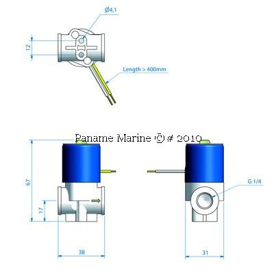 Electrovanne 12V pour systéme lave-glace ROCA ROCA 531181