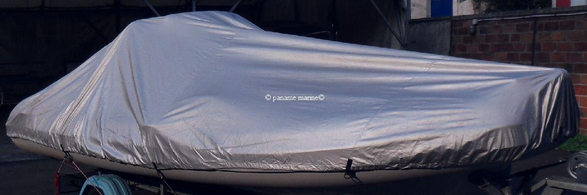 Bache pour bateau moteur 427 a 488cm largeur 180cm paname marine - Pneumatique semi rigide ...