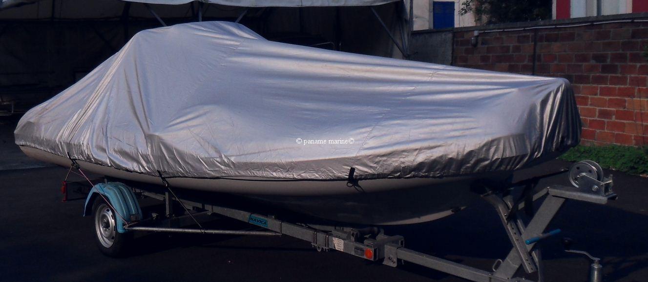 Bache pour bateau moteur 427 a 488cm largeur 180cm paname marine - Bateau pneumatique semi rigide ...