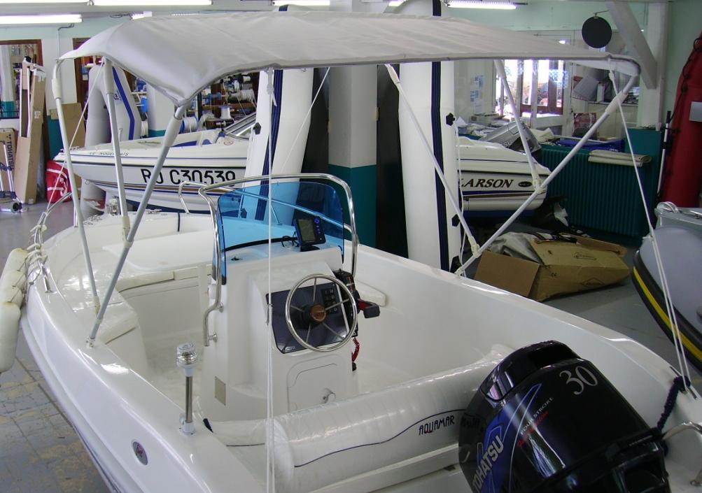 09 Bimini 200cm 3 arceaux pour bateau rigide