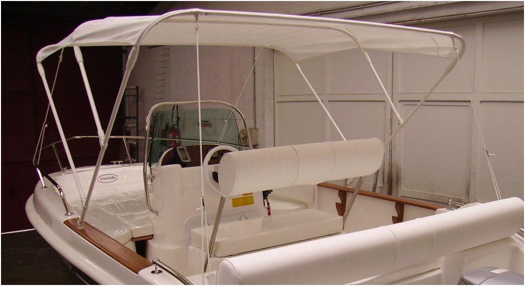 bimini larg 225cm 3 arceaux (reglable 215235cm) montage balcon
