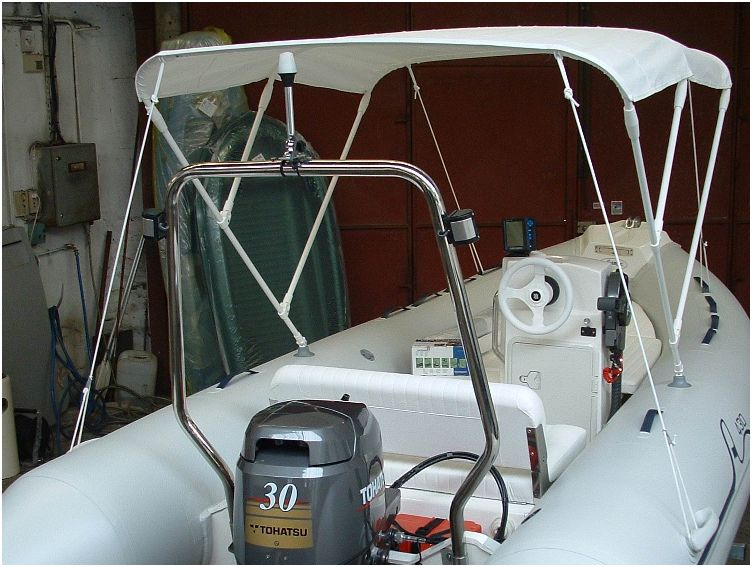 Bimini 150cm 3 arceaux pneumatiques et semi rigides paname marine - Bateau pneumatique semi rigide ...