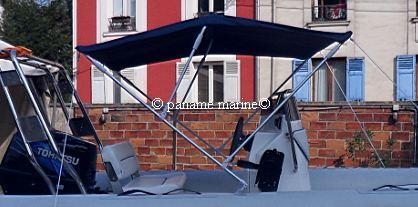 bimini larg 170cm 3 arceaux (reglable 160180cm) BLEU PNEUS