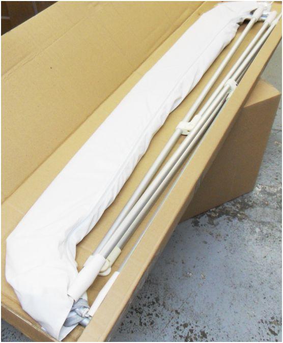 bimini taud de soleil larg 150cm 2 arceaux (reglable 140165cm)