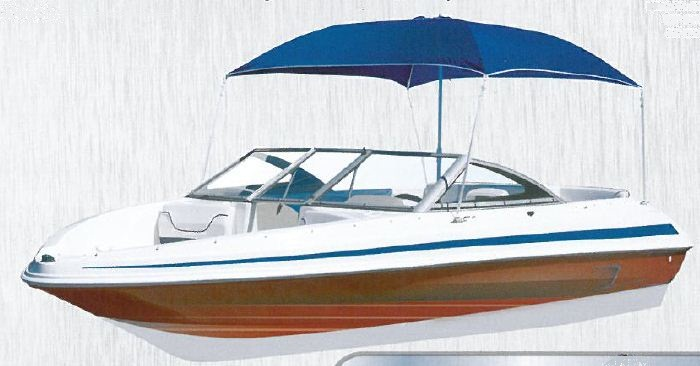 bimini parasol boat shade blue OCCASION POUR PIECES