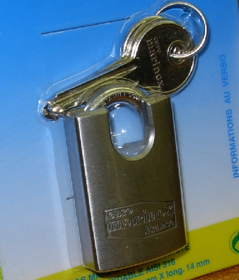 Cadenas marine haute securite inox 30mm