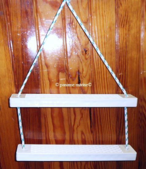 Echelle bateau securite corde 2 marches epaisses