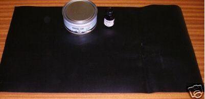 Kit pro (bateaux pneumatique)colle et neoprene noir 50x30