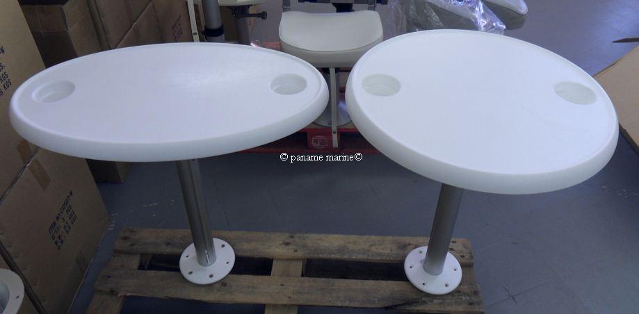 table ovale pour bateau avec support amovible cabine ebay. Black Bedroom Furniture Sets. Home Design Ideas