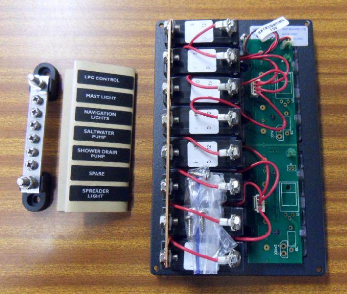 Tableau electrique complet 3 fonctions pour bateau paname marine - Cable electrique 4mm2 ...